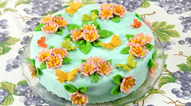 Как делать цветы из мастики для торта в домашних условиях 157