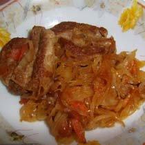 Свиные ребра с капустой рецепт