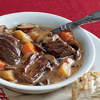 Рецепт овощного супа с говядиной и грибами