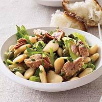 Рецепт салата с тунцом, фасолью