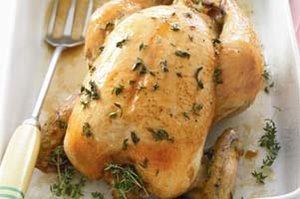 Фаршированный грибами и беконом цыпленок
