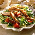 салат с хрустящей курочкой