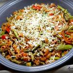 Тушеные овощи с макаронами